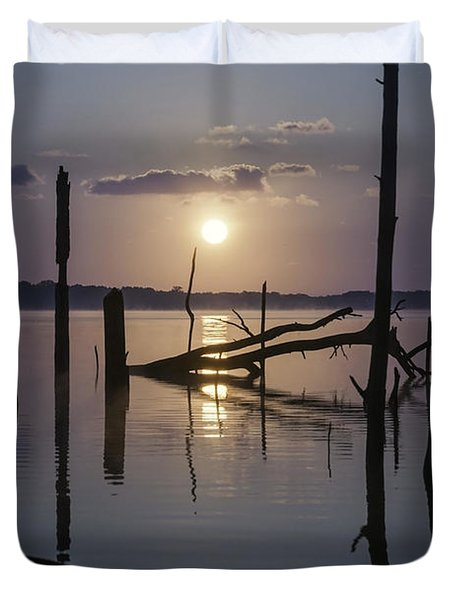 Sunrise Over Manasquan Reservoir Duvet Cover