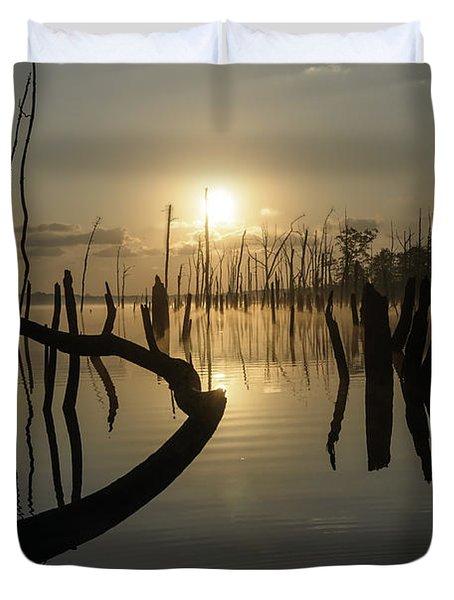 Sunrise Over Manasquan Reservoir II Duvet Cover