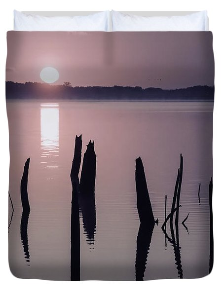 Sunrise Over Manasquan Reservoir Iv Duvet Cover