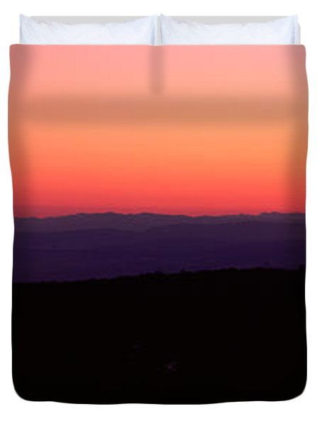 Sunrise Over Mountain, Western Slope Duvet Cover