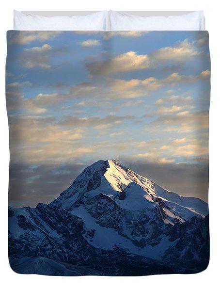Sunrise Over Mt Huayna Potosi Duvet Cover