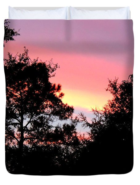 Sunrise Over Perry Duvet Cover
