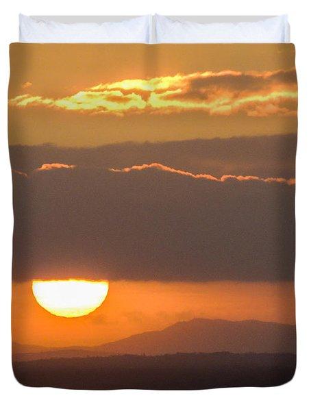 Sunrise Over River Shannon Duvet Cover
