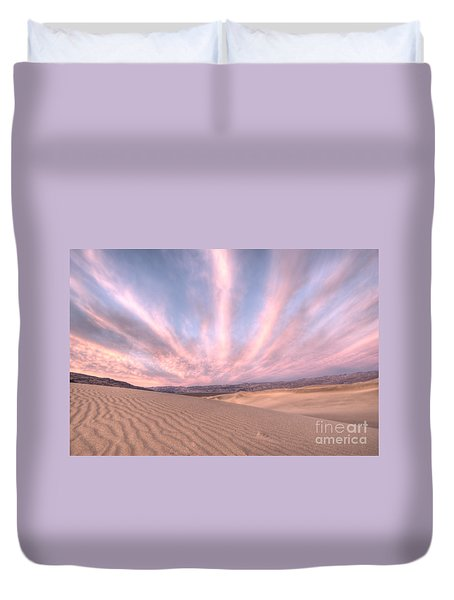 Sunrise Over Sand Dunes Duvet Cover