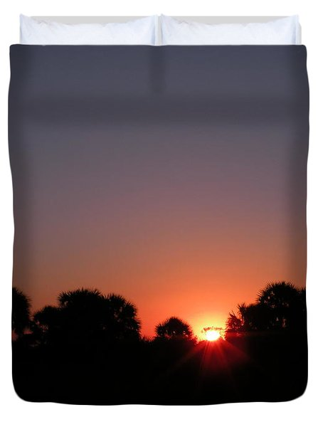 Sunrise Over St Joseph Bay Duvet Cover