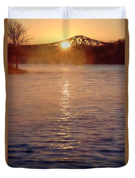 Sunrise Over Table Rock Duvet Cover