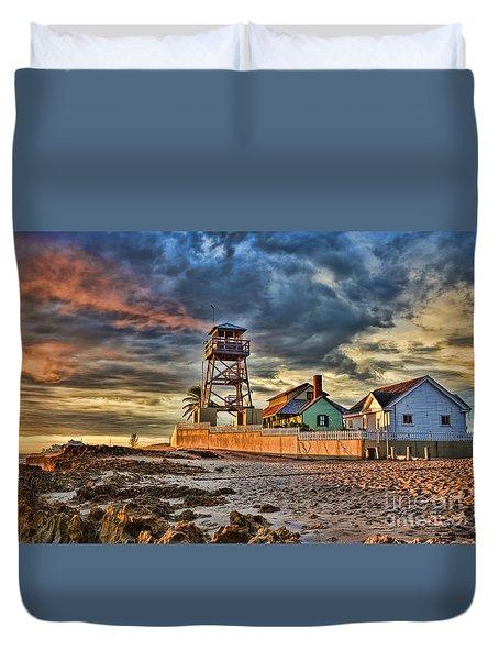 Sunrise Over The House Of Refuge On Hutchinson Island Duvet Cover