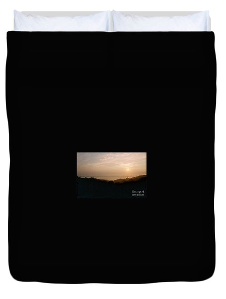 Sunrise Over The Illinois River Valley Duvet Cover