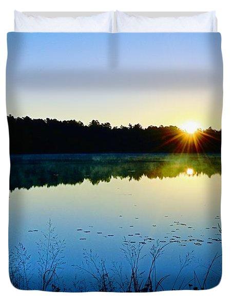 Sunrise Over The Lake Duvet Cover