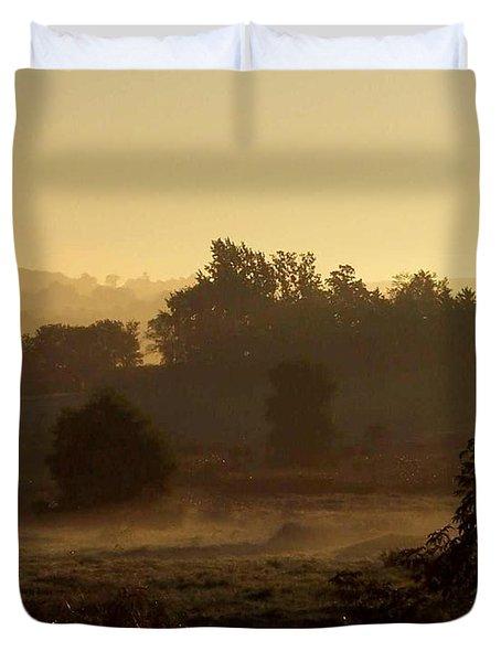 Sunrise Over The Mist Duvet Cover