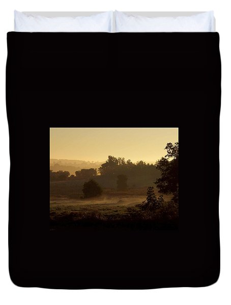 Sunrise Over The Mist Duvet Cover