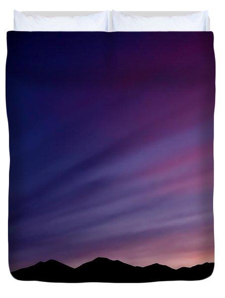 Sunrise Over The Mountains Duvet Cover