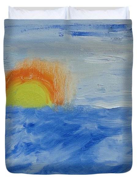 Sunrise Duvet Cover by PainterArtist FINs daughter