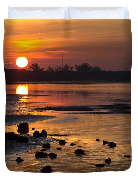 Duvet Cover featuring the photograph Sunrise Photograph by Meg Rousher