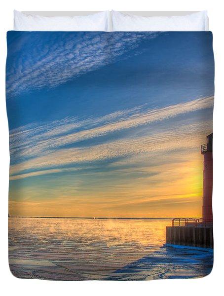 Sunrise Pierhead Duvet Cover