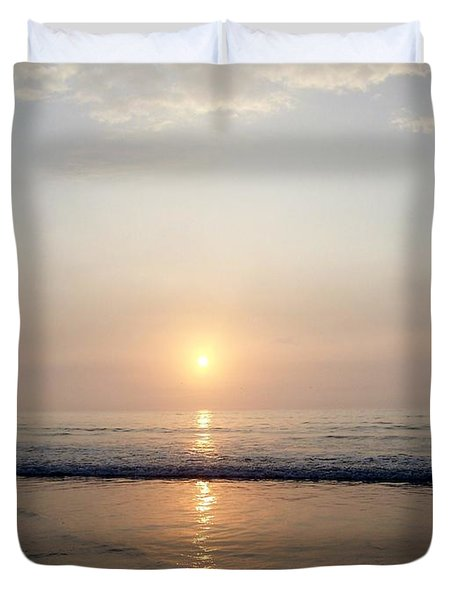 Sunrise Reflection Shines Upon The Atlantic Duvet Cover