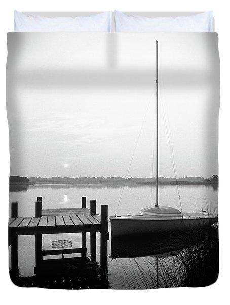 Sunrise Sail Boat Duvet Cover by Mike McGlothlen