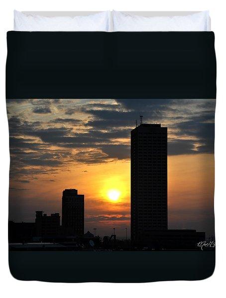 Sunrise Silhouette Buffalo Ny V2 Duvet Cover