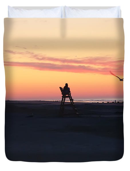 Sunrise Solitude Duvet Cover by Bill Cannon