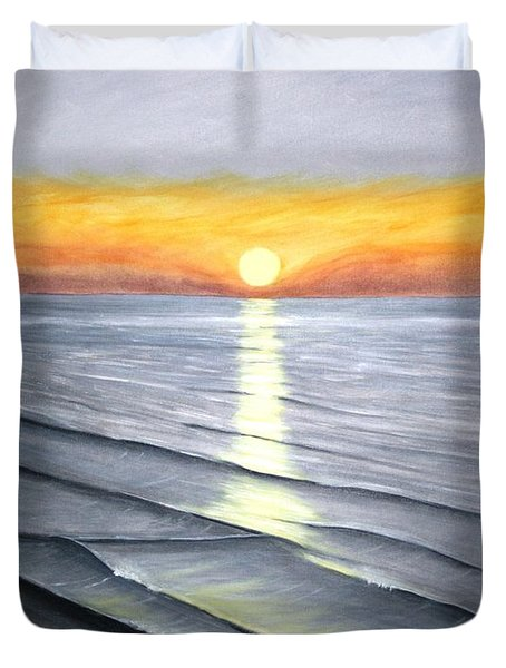 Duvet Cover featuring the painting Sunrise by Stacy C Bottoms