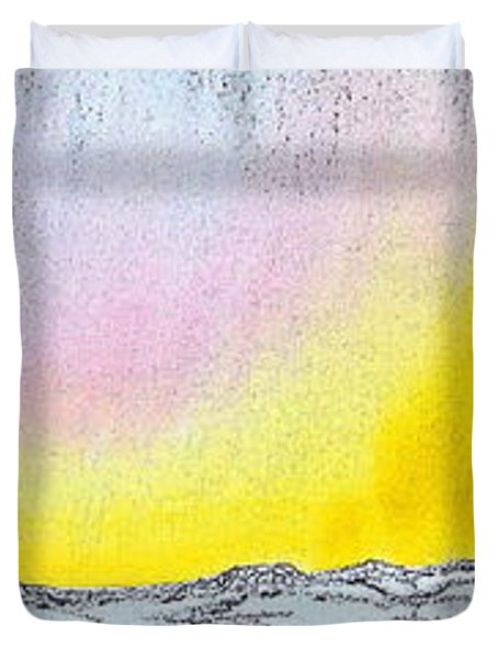 Sunrise-sunset Duvet Cover