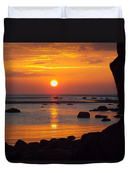 Duvet Cover featuring the photograph Sunrise Therapy by Dianne Cowen