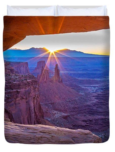 Sunrise Through Mesa Arch Duvet Cover
