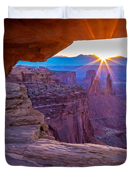 Sunrise Through Mesa Arch Duvet Cover