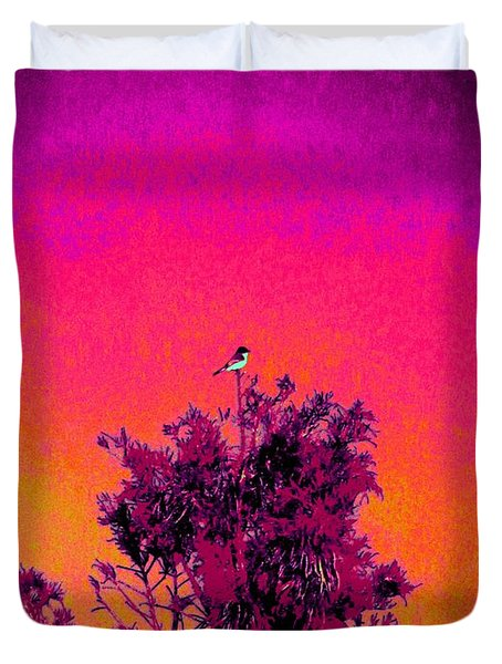 Sunrise To Sunset Nature Is Beautiful Duvet Cover by David Mckinney