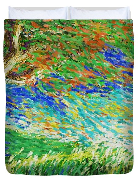 The War Of Wind And Sun Duvet Cover
