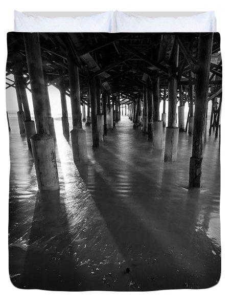 Sunrise Under Pier Duvet Cover