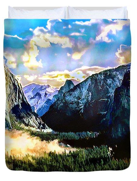 Sunrise Yosemite Valley Nationalpark Duvet Cover