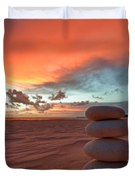 Sunrise Zen Duvet Cover by Sebastian Musial