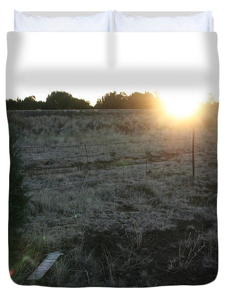 Duvet Cover featuring the photograph Sunrize by David S Reynolds