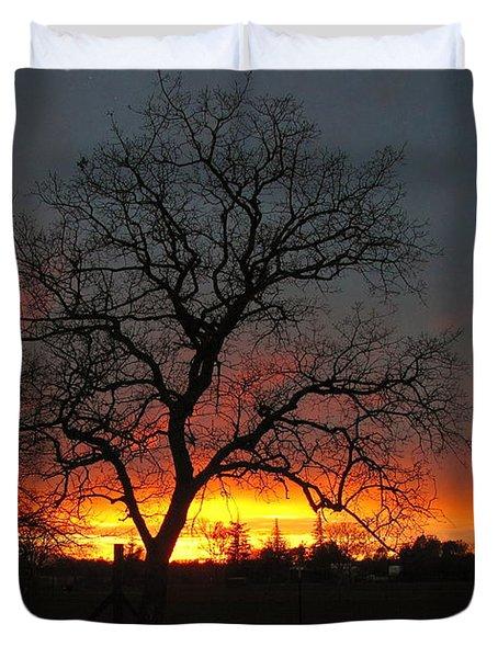 Sunset 02 18 13 Duvet Cover by Joyce Dickens