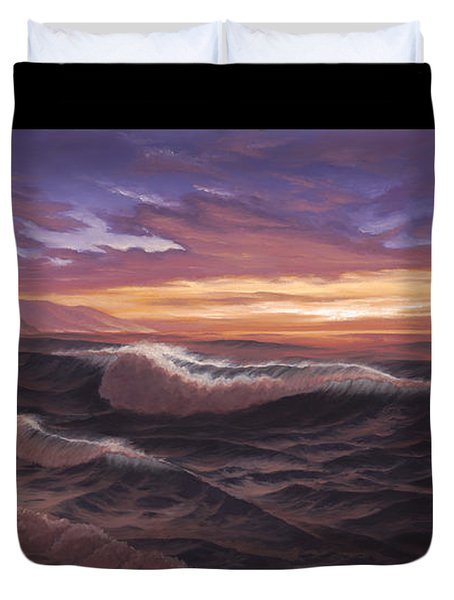 Sunset At Big Sur Duvet Cover