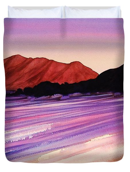 Sunset At Black Rock Maui Duvet Cover