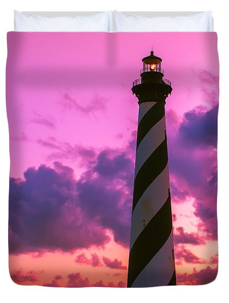 Sunset At Cape Hatteras Vertical  Duvet Cover