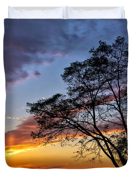 Sunset At Chesapeake Beach Duvet Cover