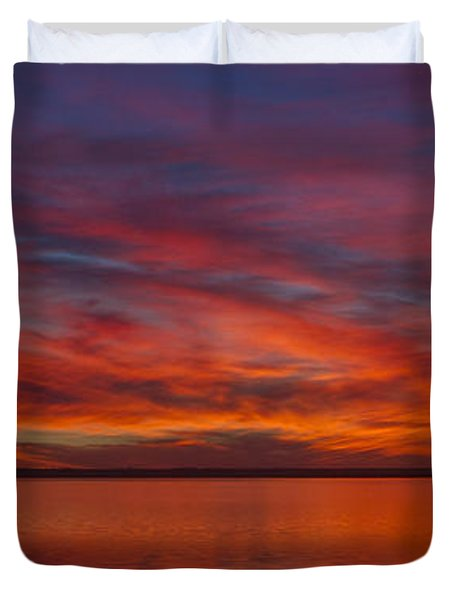 Sunset At Cheyenne Bottoms 1 Duvet Cover