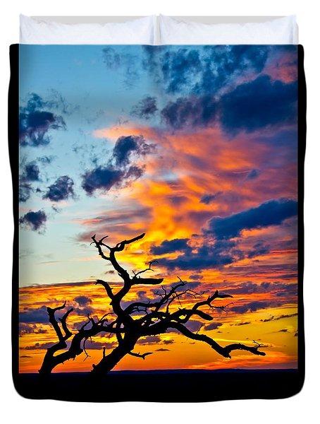 Sunset At Enchanted Rock Duvet Cover
