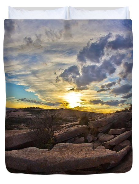 Sunset At Enchanted Rock State Natural Area Duvet Cover