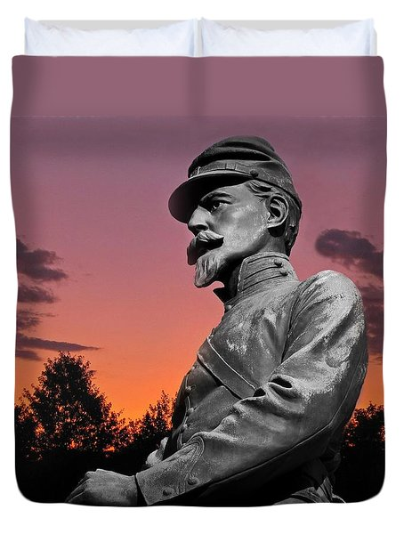 Sunset At Gettysburg  Duvet Cover
