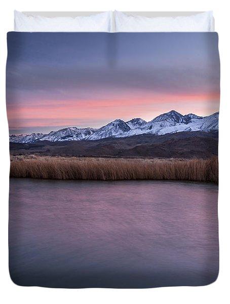 Sunset At Klondike Lake Duvet Cover by Cat Connor