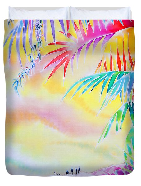 Sunset At Kuto Beach Duvet Cover