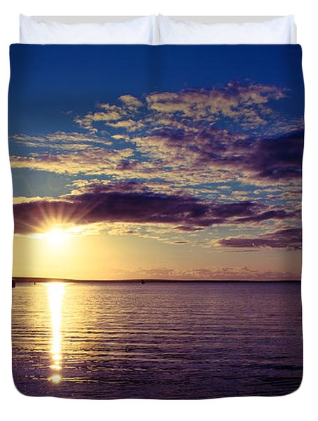 Sunset At Monkey Mia Duvet Cover