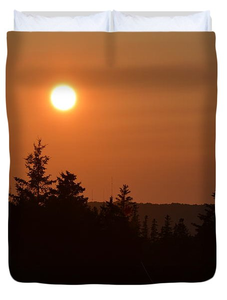 Sunset At Owl's Head Duvet Cover