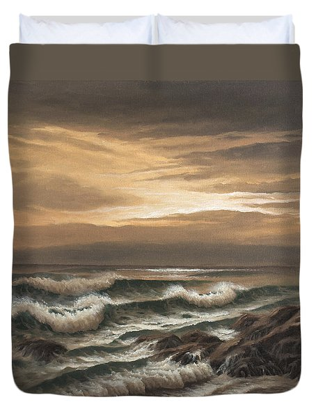 Sunset At Pacific Grove Duvet Cover