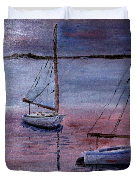 Sunset At Pleasant Bay Duvet Cover