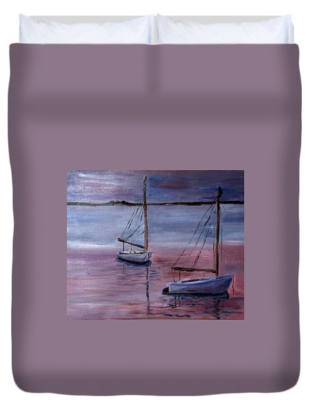 Sunset At Pleasant Bay Duvet Cover